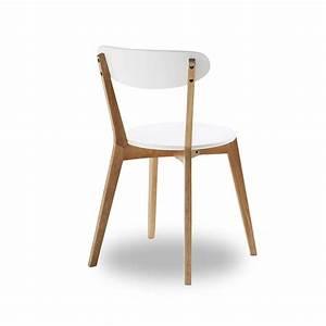 Chaise Blanche Et Bois : chaise blanche et bois design id es de d coration ~ Nature-et-papiers.com Idées de Décoration