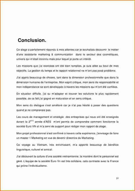 rapport de stage 3eme cuisine conclusion rapport de stage 3eme