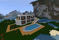 HD wallpapers maison moderne de luxe avec piscine minecraft ...