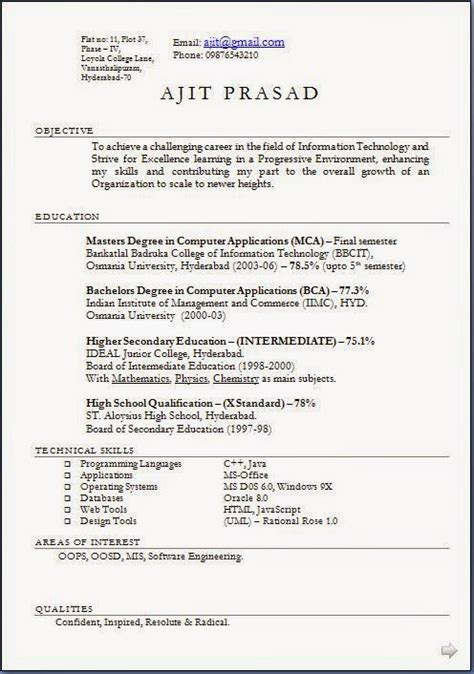 best objective in resume 28 images exles of resumes