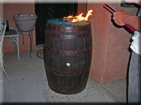 convert a wine barrel into a safe outdoor firepit