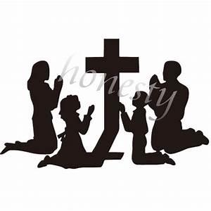 Family Praying Silhouette At Getdrawings Com