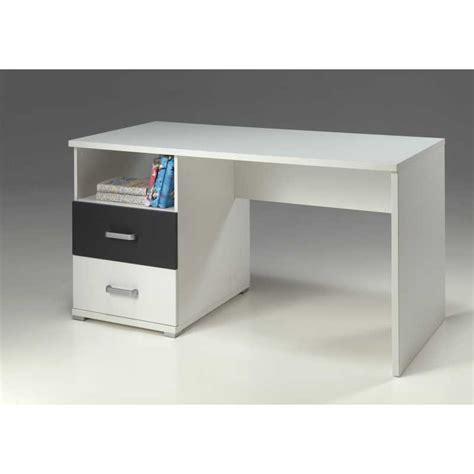 bureau pour chambre enfant avec 2 tiroirs et espace rangement blan