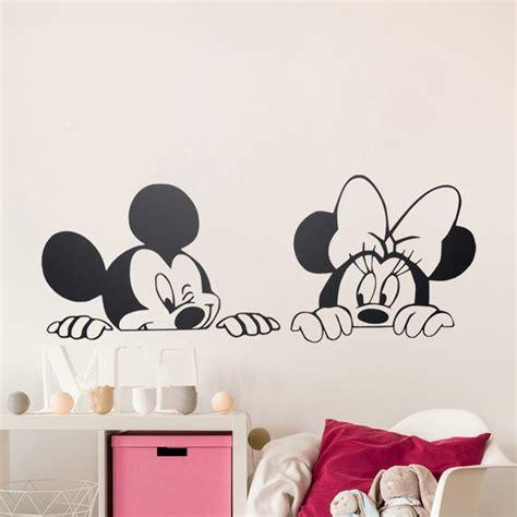 chambre mickey mouse dessin animé de mickey minnie souris mignon vinyle