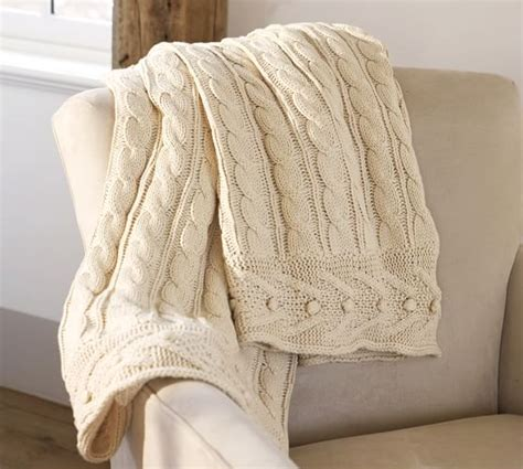 pottery barn throw cable knit throw pottery barn