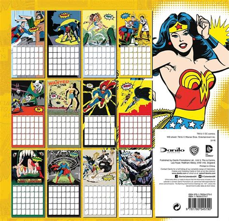 dc comics calendars ukposterseuroposters