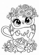 Owl Coloring Easy Tulamama sketch template