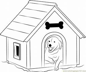Dog House with Window Coloring Page - Free Dog House ...