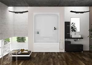Mirolin Liberty 60 Inch 1 Piece Acrylic Tub And Shower
