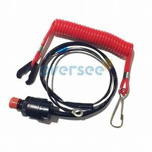 Stop Switch Safety Lanyard For Parsun Yamaha Honda Tohatsu