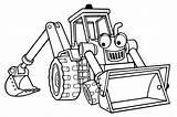 Shovel Coloring Mechanical Cartoon Printable Excavator sketch template