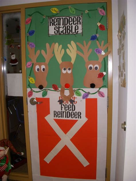 christmas door preschool ideas pinterest