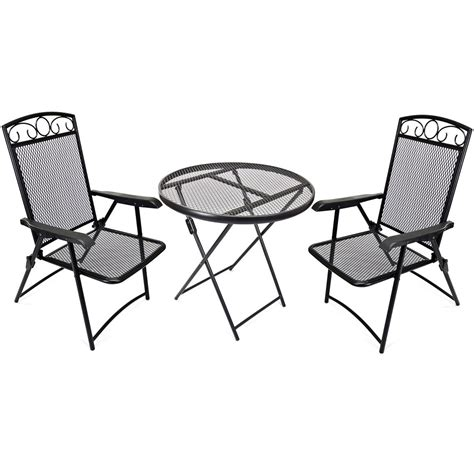 wrought iron bistro set 593403 patio furniture