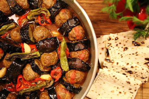 kebab cuisine urfa kebab fried eggplants and meatballs armenian