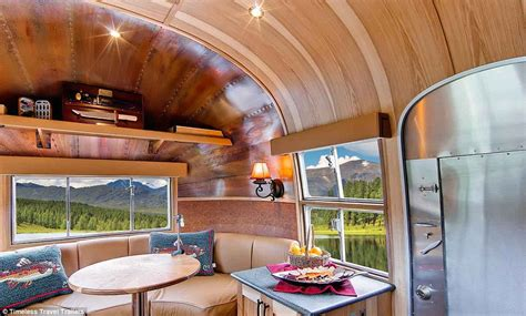 vintage airstream whale tail trailer transformed