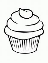Coloring Birthday Pages Cupcakes Cupcake Clipart Panda sketch template