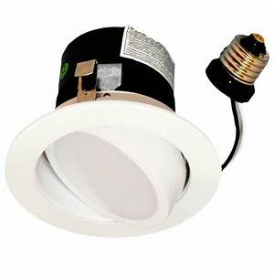 4 U0026quot  Recessed Can Light Dimmable Led Retrofit Kit Adjustable