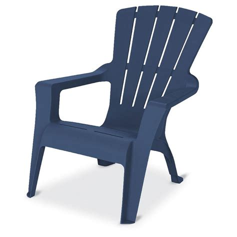 Blue Plastic Adirondack Chairs Home Depot by Midnight Stackable Outdoor Adirondack Chair 231723 The