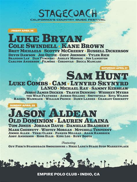 stagecoach fest lineup