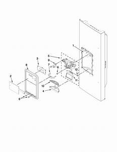 Dispenser Front Parts Diagram  U0026 Parts List For Model