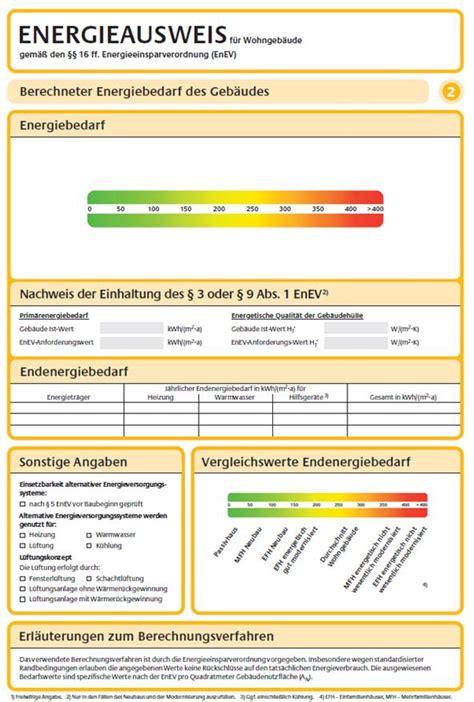 Wie Sieht Ein Energieausweis  Energiepass Aus?