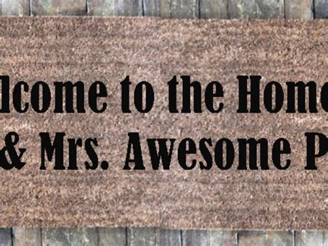 awesome doormats welcome to the home of mr mrs awesome doormat