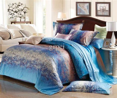 grey and blue comforter sets blue grey stripe satin comforter bedding set king size