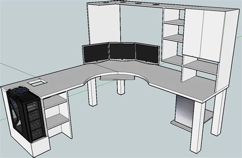 L Shaped Computer Desk Plans by Blkfxx S Computer Desk Build Home Office