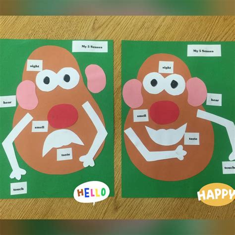 mr potato 5 senses activity preschool or 621 | aabcca79ce823227de92ee3cbf677e12 five senses kindergarten five senses preschool