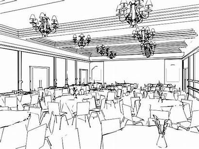 Dining Vector Clip Outline Sketch Illustrations Interior