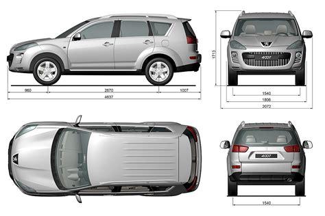 average width of a car peugeot 4007 interieur