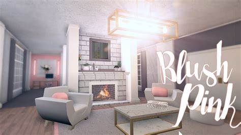 bloxburg blush pink room  small living room