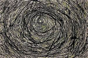 """Abstract Jackson Pollock Painting Titled: Rabbit Hole"