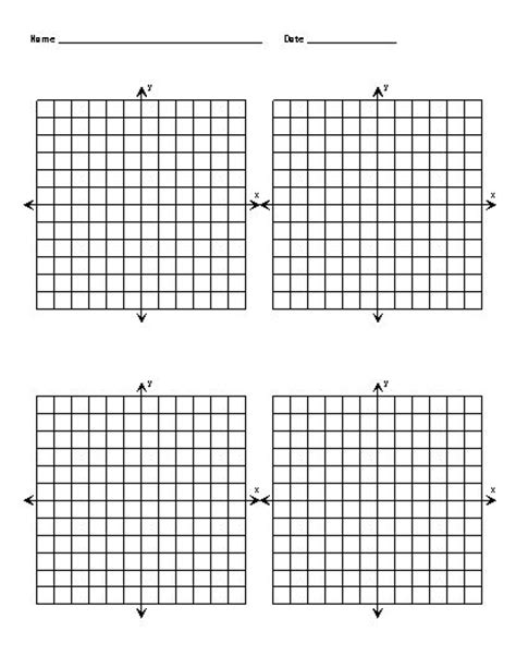 Free Printable Graph Paper With X And Y Axis  Blank Coordinate Grids  Cakes Pinterest