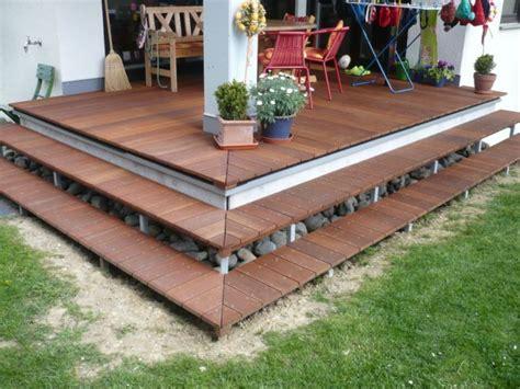 Treppe Für Terrasse by Holzterrasse Stufen Bauen Wohn Design