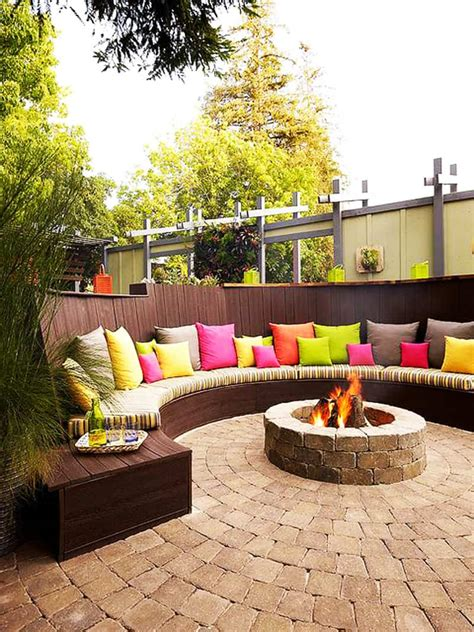pit fire outdoor seating patio backyard area firepit garden circular pits sitting diy around idea outside deck outdoors decor create