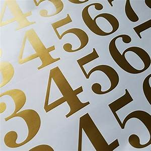 classic style die cut mailbox numbers 3 inch metallic With gold die cut letters