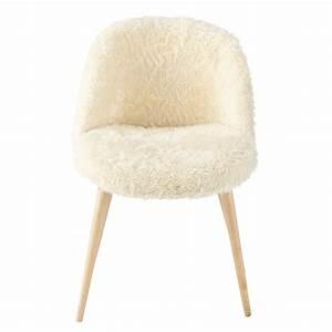 Chaise Jardin Maison Du Monde : chaise vintage en fausse fourrure ivoire mauricette maisons du monde ~ Melissatoandfro.com Idées de Décoration