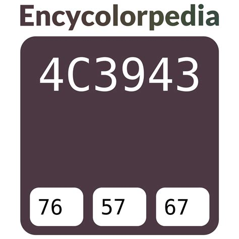 The white, red and green are meant to represent the colors of the italian flag. #4c3943 Hex Color Code, RGB and Paints