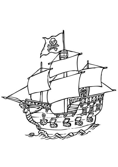 Dessin Bateau Trois Mats Facile by Pirates 8 Coloriage De Pirates Coloriages Pour Enfants