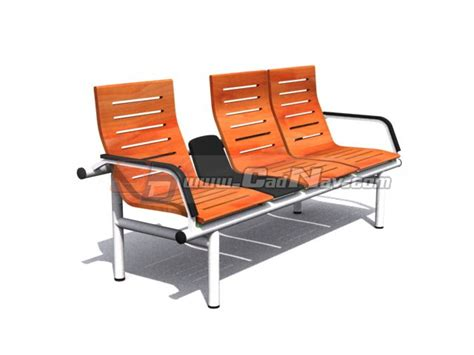 3 seater airport waiting chair 3d model 3dmax 3ds files