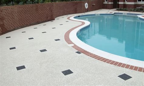 resurface pool deck with tile concrete pool deck resurfacing spray slip