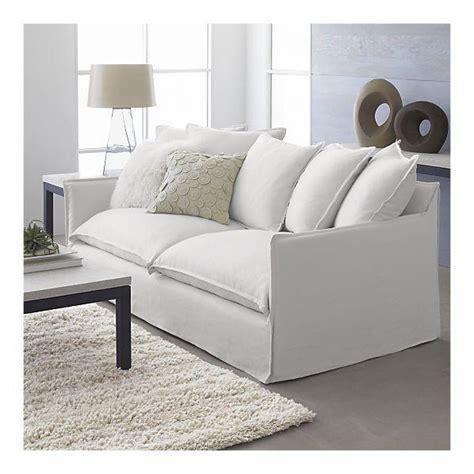 white slip covered sofa slipcover for oasis sofa crate barrel