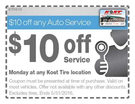 Kost Tire Monday Special