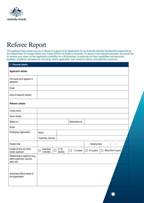 FREE 15+ Referee Report Forms in PDF | MS Word | Excel
