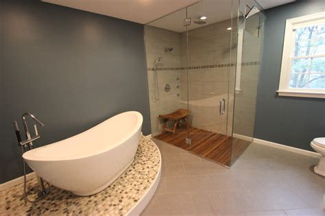 Spa Inspired Bathrooms by Spa Inspired Master Bath Eclectic Bathroom Boston