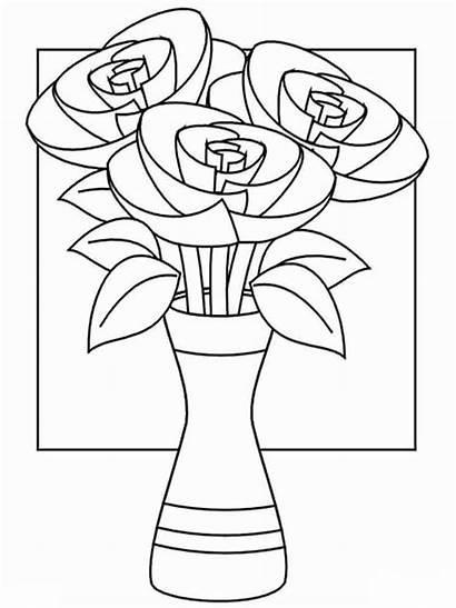Vase Flores Jarron Dibujos Flower Coloring Colorear