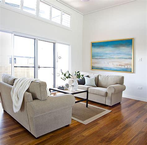 Contemporary Coastal Home - Beach Style - Living Room