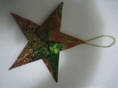 elegant fabric star origami christmas tree ornaments by