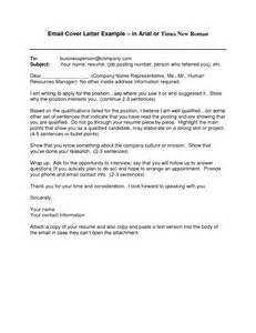 cover letter email sle template design
